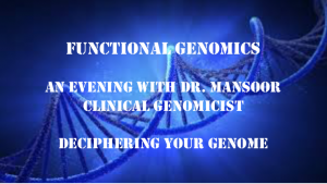 Functional Genomics Best In Corporate Health